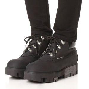 ❄️ Acne Studio Tinnie Black Hiker Winter Boots